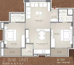 1179 sqft, 2 bhk Apartment in Unique Aashiyana Gota, Ahmedabad at Rs. 49.0000 Lacs