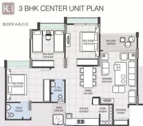 1530 sqft, 3 bhk Apartment in Navkar Kalasagar Heights Ranip, Ahmedabad at Rs. 12000
