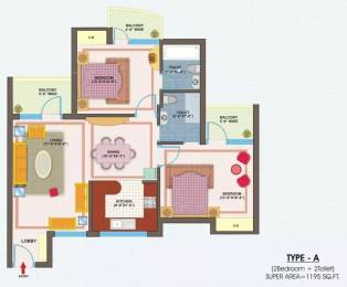 1195 sqft, 2 bhk Apartment in VXL Eastern Gates Sector 4 Vasundhara, Ghaziabad at Rs. 42.0000 Lacs