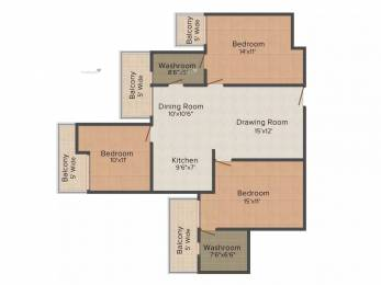 1480 sqft, 3 bhk Apartment in Saya Zenith Ahinsa Khand 2, Ghaziabad at Rs. 10.2000 Cr