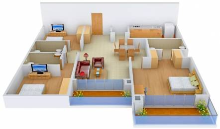 2051 sqft, 3 bhk Apartment in Prestige Ivy League Hitech City, Hyderabad at Rs. 60000