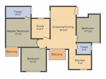 1128 sqft, 3 bhk Apartment in BPTP Park Elite Premium Sector 84, Faridabad at Rs. 47.5000 Lacs