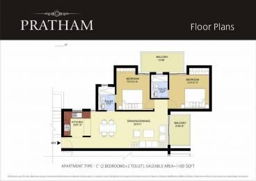 1100 sqft, 2 bhk Apartment in Puri Pratham Sector 84, Faridabad at Rs. 43.3500 Lacs