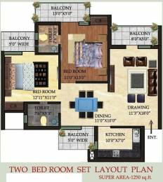 1250 sqft, 2 bhk Apartment in Care The Alien Court Tronica City, Ghaziabad at Rs. 37.5000 Lacs