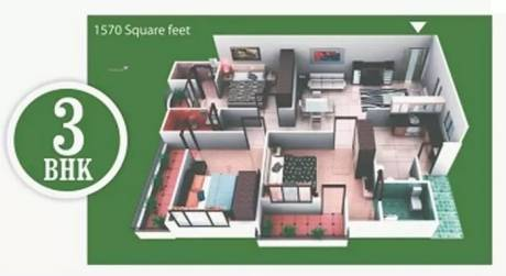 1570 sqft, 3 bhk Apartment in V Value Home Developers Pvt Ltd Tulsiyana Residency AB Bypass Road, Indore at Rs. 35.0000 Lacs
