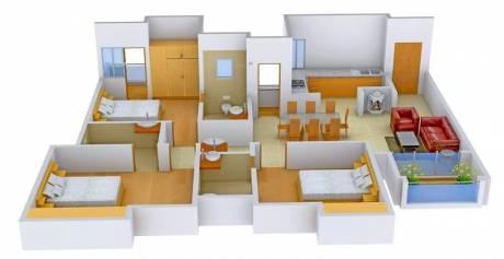 1642 sqft, 3 bhk Apartment in Appaswamy Greensville Sholinganallur, Chennai at Rs. 1.1000 Cr