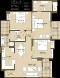 1620 sqft, 3 bhk Apartment in County Cleo County Sector 121, Noida at Rs. 1.2500 Cr
