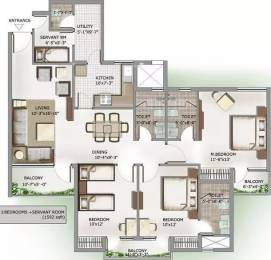 1592 sqft, 3 bhk Apartment in 3C Lotus Panache Sector 110, Noida at Rs. 91.0000 Lacs