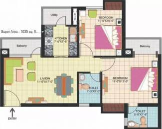 1035 sqft, 2 bhk Apartment in Amrapali Silicon City Sector 76, Noida at Rs. 48.0000 Lacs