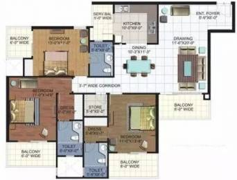 1970 sqft, 3 bhk Apartment in Ramprastha Platinum Premier Sector 7 Vaishali, Ghaziabad at Rs. 1.5500 Cr