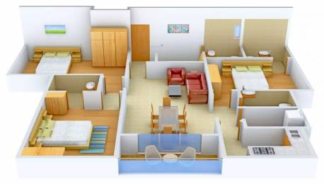 1750 sqft, 3 bhk Apartment in DN Northern Heights Patia, Bhubaneswar at Rs. 80.0000 Lacs