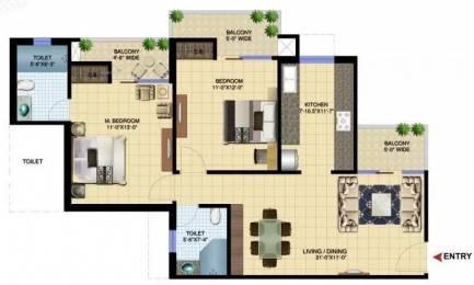 1260 sqft, 2 bhk Apartment in Paramount Golfforeste Premium Apartments Zeta 1, Greater Noida at Rs. 40.3200 Lacs