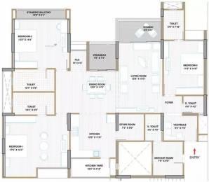 1527 sqft, 3 bhk Apartment in  Apollo DB City Vijay Nagar, Indore at Rs. 23000