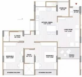 1362 sqft, 2 bhk Apartment in  Apollo DB City Vijay Nagar, Indore at Rs. 15000