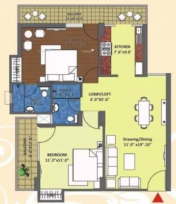 1100 sqft, 2 bhk Apartment in K W Srishti Raj Nagar Extension, Ghaziabad at Rs. 31.9900 Lacs