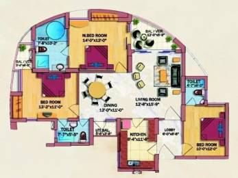 1655 sqft, 3 bhk Apartment in Eldeco Olympia Sector 93A, Noida at Rs. 87.9000 Lacs