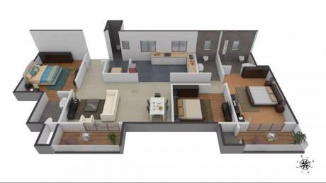 1880 sqft, 3 bhk Apartment in Brigade Northridge Jakkur, Bangalore at Rs. 35000
