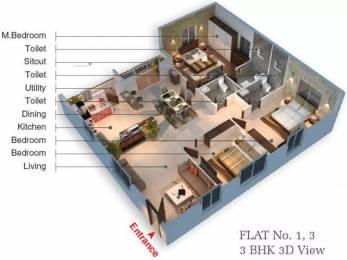1700 sqft, 3 bhk Apartment in Hasini Platinum County Gorantla, Guntur at Rs. 61.7000 Lacs