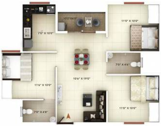 1000 sqft, 3 bhk Apartment in Icon Happy Living Electronic City Phase 2, Bangalore at Rs. 39.0000 Lacs