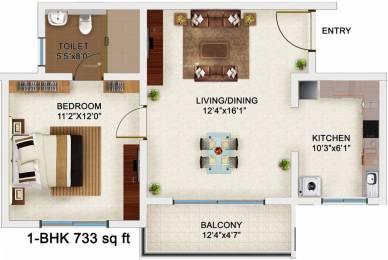 733 sqft, 1 bhk Apartment in Bren Champions Square Sarjapur Road Post Railway Crossing, Bangalore at Rs. 43.0000 Lacs