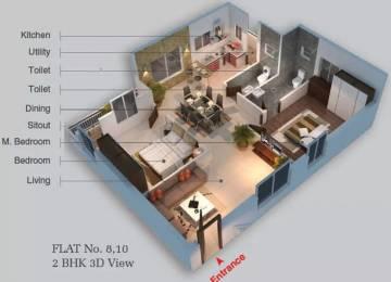 910 sqft, 2 bhk Apartment in Hasini Platinum County Gorantla, Guntur at Rs. 32.7600 Lacs