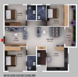 1753 sqft, 3 bhk Apartment in Builder Prime Living Shaniketan Vijayawada Guntur Highway, Vijayawada at Rs. 78.8800 Lacs