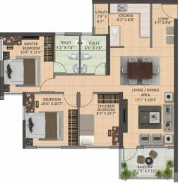 1291 sqft, 3 bhk Apartment in Shapoorji Pallonji Joyville Howrah, Kolkata at Rs. 39.6175 Lacs