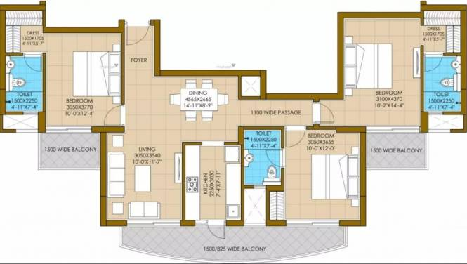 1615 sqft, 3 bhk Apartment in ATS Pious Hideaways Sector 150, Noida at Rs. 72.0000 Lacs