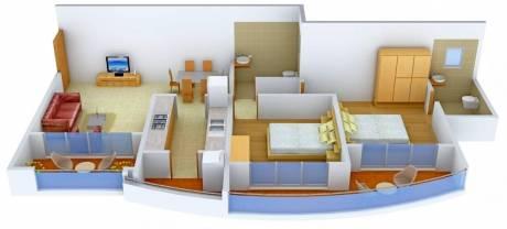 1260 sqft, 2 bhk Apartment in RNA Royale Park Kandivali West, Mumbai at Rs. 37000