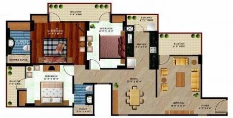 1655 sqft, 3 bhk Apartment in Prateek The Royal Cliff Crossing Republik, Ghaziabad at Rs. 56.0000 Lacs