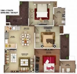 1545 sqft, 3 bhk Apartment in SVP The Imperial Gulmohur Vasant Nehru Nagar 2, Ghaziabad at Rs. 90.0000 Lacs