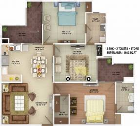 1660 sqft, 3 bhk Apartment in SVP The Imperial Gulmohur Vasant Nehru Nagar 2, Ghaziabad at Rs. 97.0000 Lacs