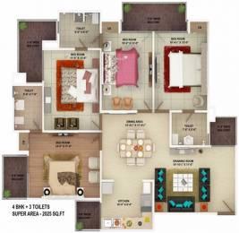 2025 sqft, 4 bhk Apartment in SVP The Imperial Gulmohur Vasant Nehru Nagar 2, Ghaziabad at Rs. 1.1800 Cr