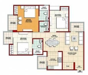 1510 sqft, 3 bhk Apartment in SVP Builders India SVP Gulmohar Residency Indirapuram, Ghaziabad at Rs. 78.5200 Lacs