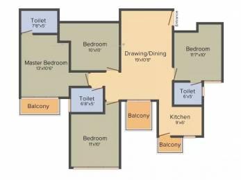 1306 sqft, 4 bhk Apartment in BPTP Park Elite Premium Sector 84, Faridabad at Rs. 56.0000 Lacs