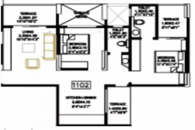 984 sqft, 2 bhk Apartment in Bhandari Colonnade Apartment Kharadi, Pune at Rs. 66.0000 Lacs