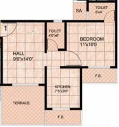 720 sqft, 1 bhk Apartment in Mohan Suburbia Ambernath West, Mumbai at Rs. 7000