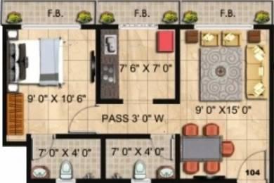 646 sqft, 1 bhk Apartment in Panvelkar Twin Towers Ambernath East, Mumbai at Rs. 5500