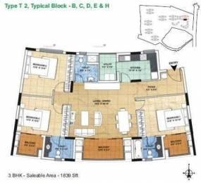 1839 sqft, 3 bhk Apartment in ETA The Gardens Rajaji Nagar, Bangalore at Rs. 1.6500 Cr
