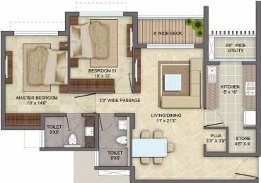 1026 sqft, 2 bhk Apartment in Lodha Eternis Andheri East, Mumbai at Rs. 60000