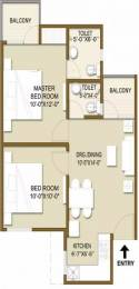 755 sqft, 2 bhk Apartment in Panchsheel Hynish Sector 1 Noida Extension, Greater Noida at Rs. 12000