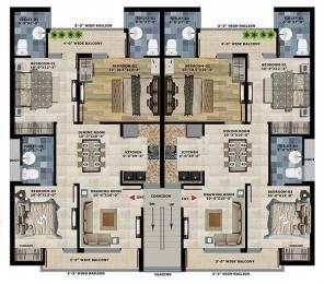 1368 sqft, 3 bhk BuilderFloor in Motia Oasis Bhabat, Zirakpur at Rs. 37.9000 Lacs