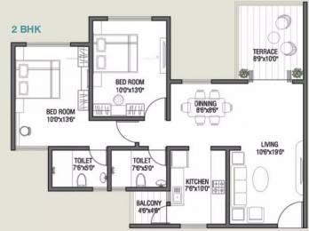1090 sqft, 2 bhk Apartment in Kolte Patil Cilantro Wagholi, Pune at Rs. 15000