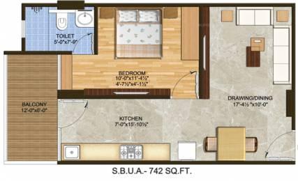 511 sqft, 1 bhk Apartment in Builder the rise tonk road Tonk Road, Jaipur at Rs. 23.5060 Lacs