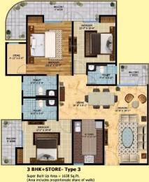 1638 sqft, 3 bhk Apartment in SRM Shree Raj Mahal Indraprastha Yojna, Ghaziabad at Rs. 49.1489 Lacs