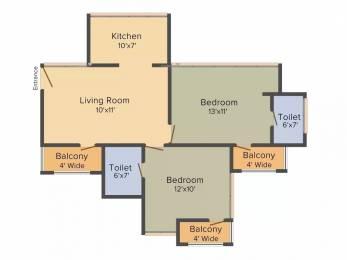 975 sqft, 2 bhk Apartment in Revanta Heights Chhawla, Delhi at Rs. 31.0000 Lacs