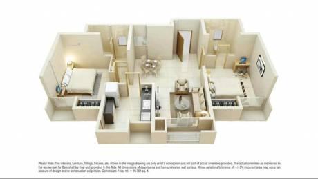 712 sqft, 2 bhk Apartment in Dosti Planet North Phase 4 Dosti Opal Shil Phata, Mumbai at Rs. 51.6000 Lacs