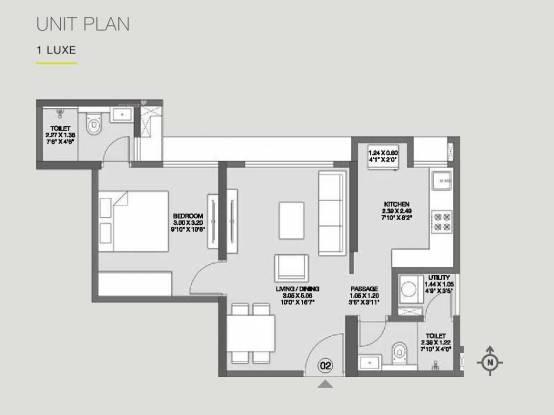 576 sqft, 1 bhk Apartment in Builder Godrej Nirvaan Bhiwandi, Mumbai at Rs. 43.9000 Lacs
