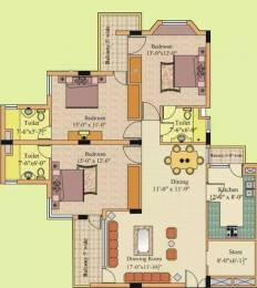 1650 sqft, 3 bhk Apartment in Gillco Towers Sector 127 Mohali, Mohali at Rs. 50.0000 Lacs