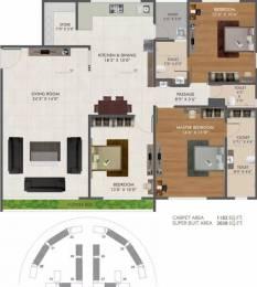 2038 sqft, 3 bhk Apartment in Green Green City Gold Pal Gam, Surat at Rs. 85.0000 Lacs